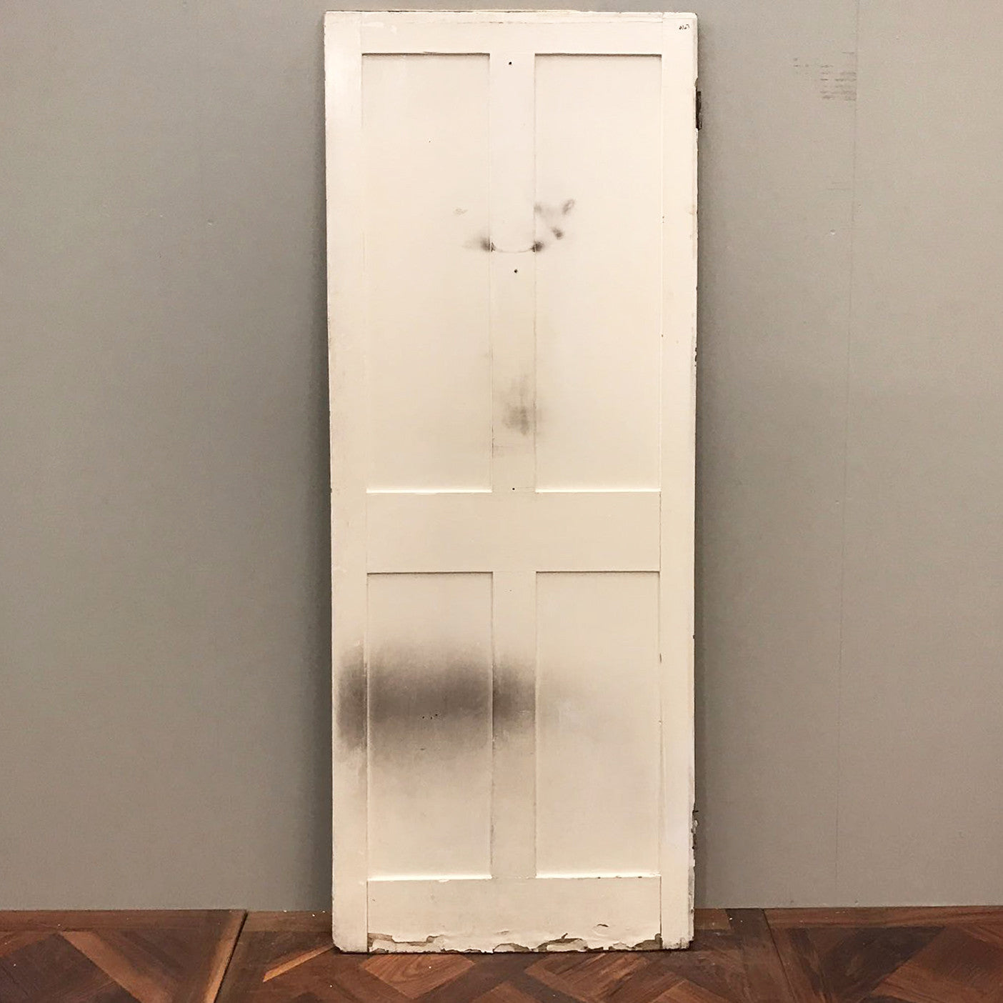 Reclaimed Victorian Four Panel Door - 192cm x 68.5cm x 3cm - architectural-forum