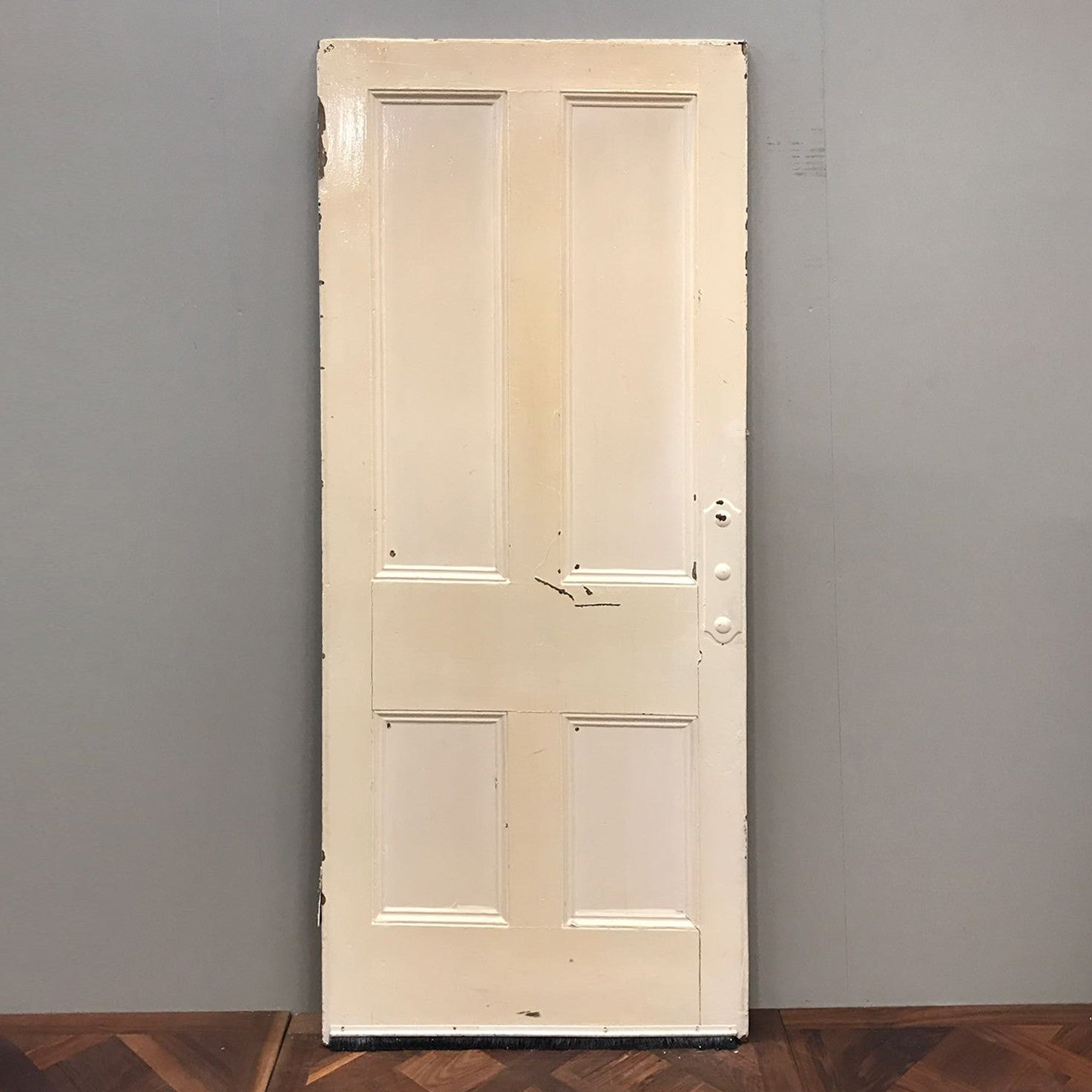 Reclaimed Victorian Four Panel Door - 204cm x 86cm x 3.5cm - architectural-forum