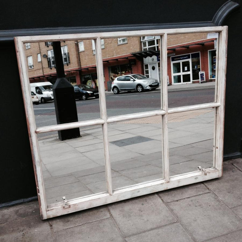 Antique sash window mirror