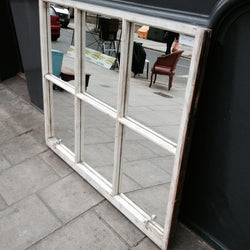 Upcycled sash window mirror