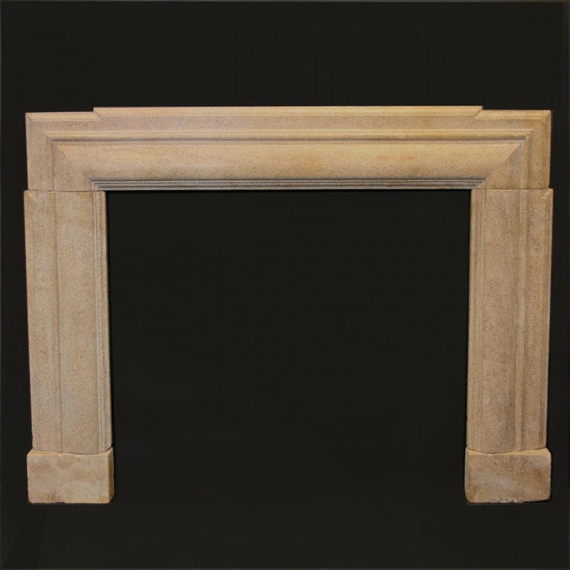 Art Deco stone fireplace surround