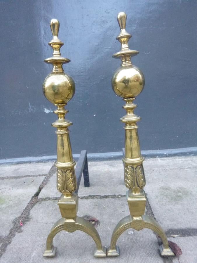 Antique Brass Firedogs - The Architectural Forum