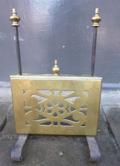 Antique Brass Fireside Pot Warmer - The Architectural Forum