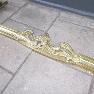 Antique Brass Fireplace Fender - The Architectural Forum