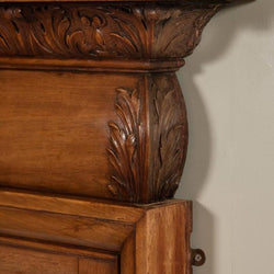 Carved fireplace surround