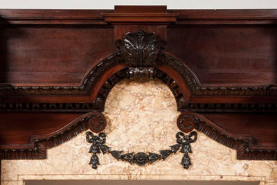 Pair of grand Antique Edwardian fireplace surrounds