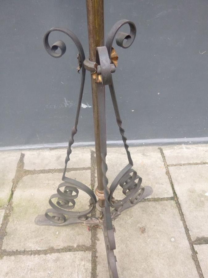 Antique Copper Lamp Stand - architectural-forum