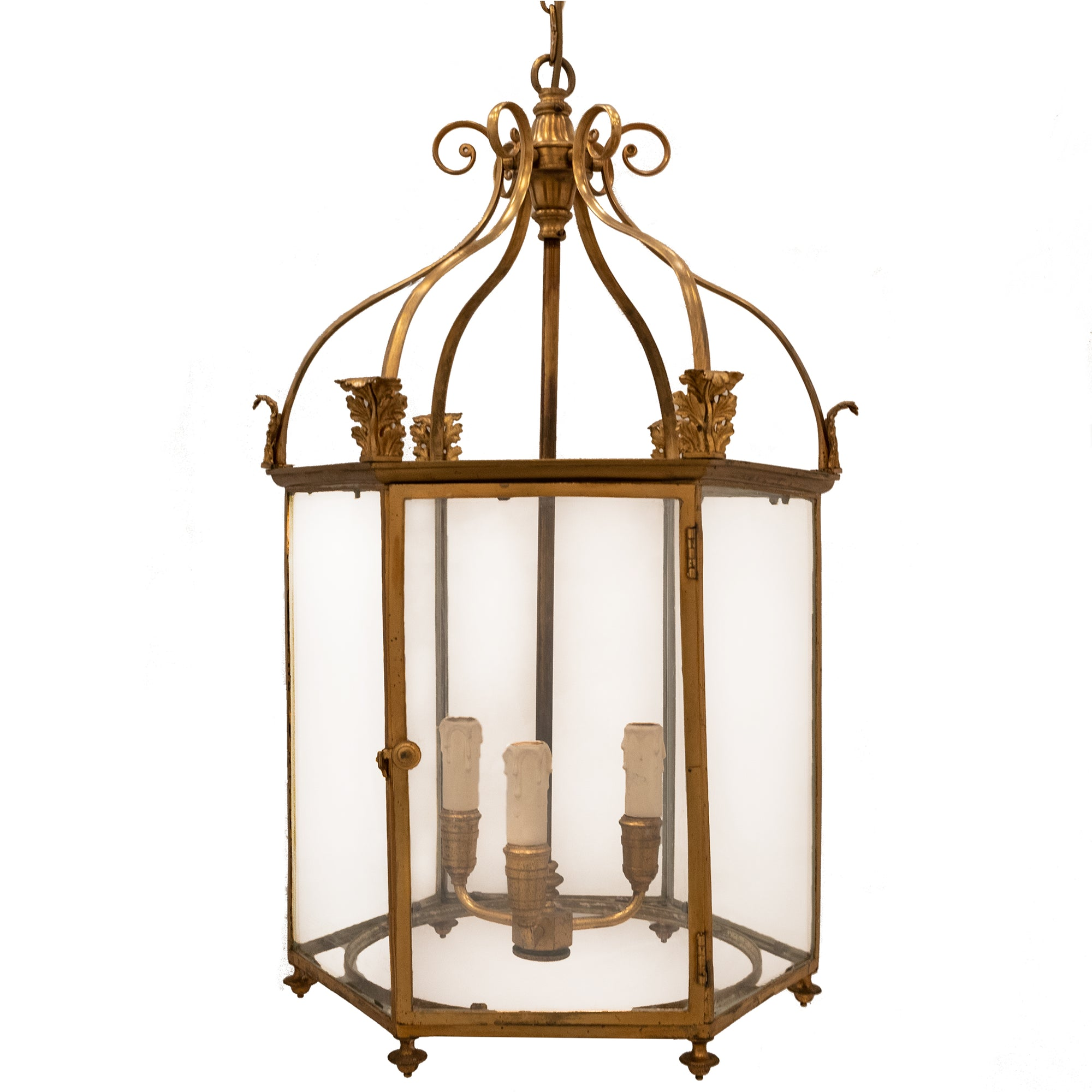 Large Antique 19th Century Brass Lantern