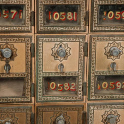Antique US Post Office Mail Boxes