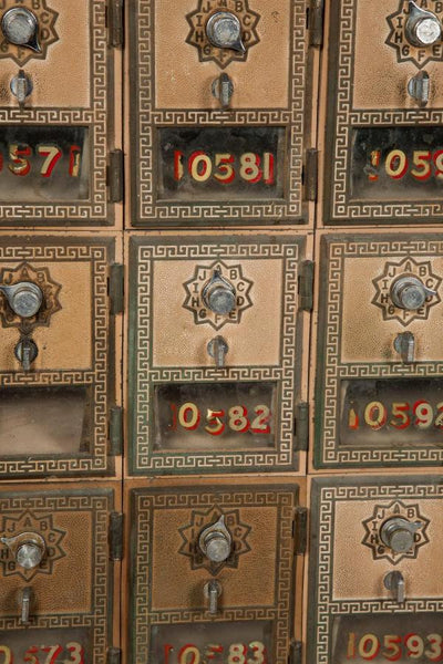 Antique US Post Office Mail Boxes - The Architectural Forum