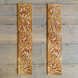Set of antique fireplace tiles