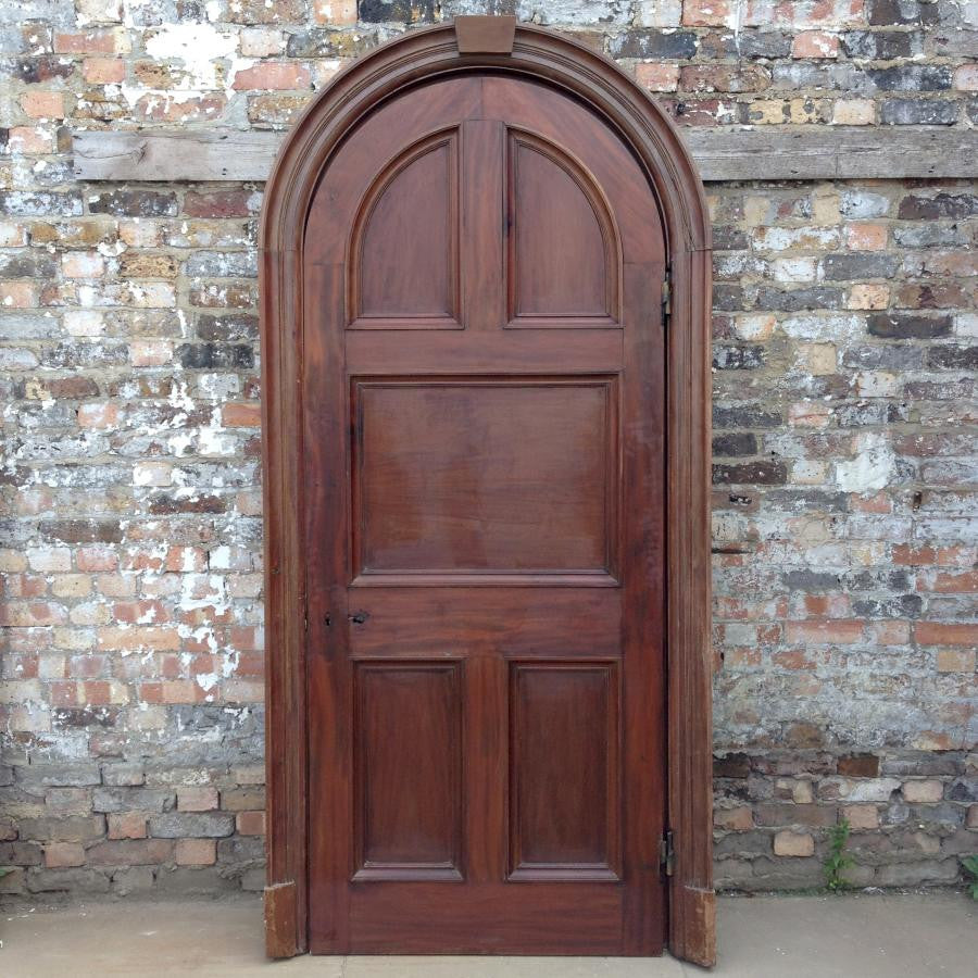 Antique Victorian Arched Doorway - 230cm x 110cm - architectural-forum