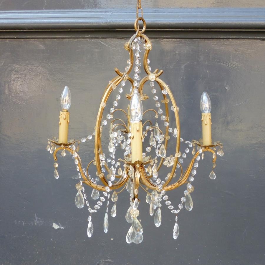 Antique Brass and Crystal Chandelier - architectural-forum