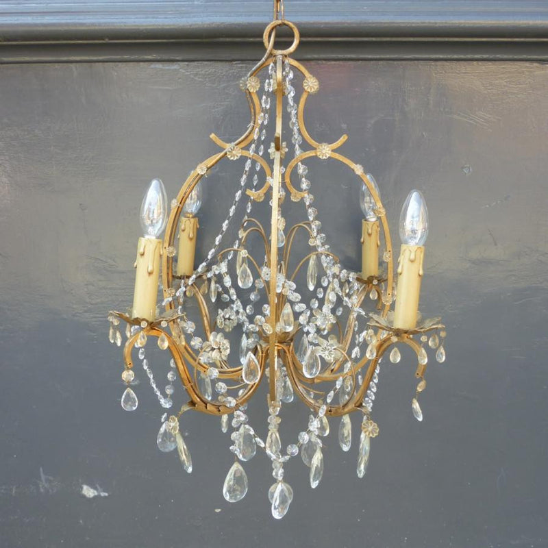 Antique Brass and Crystal Chandelier - The Architectural Forum