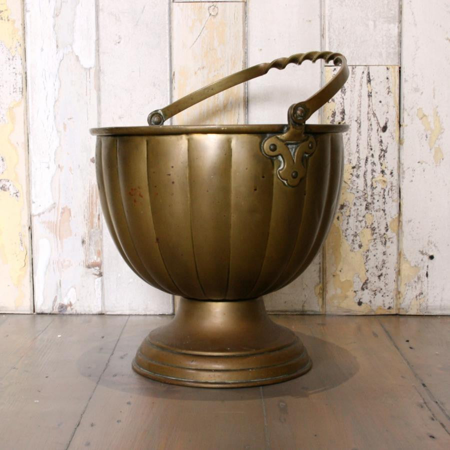 Antique Solid Brass Bucket - architectural-forum