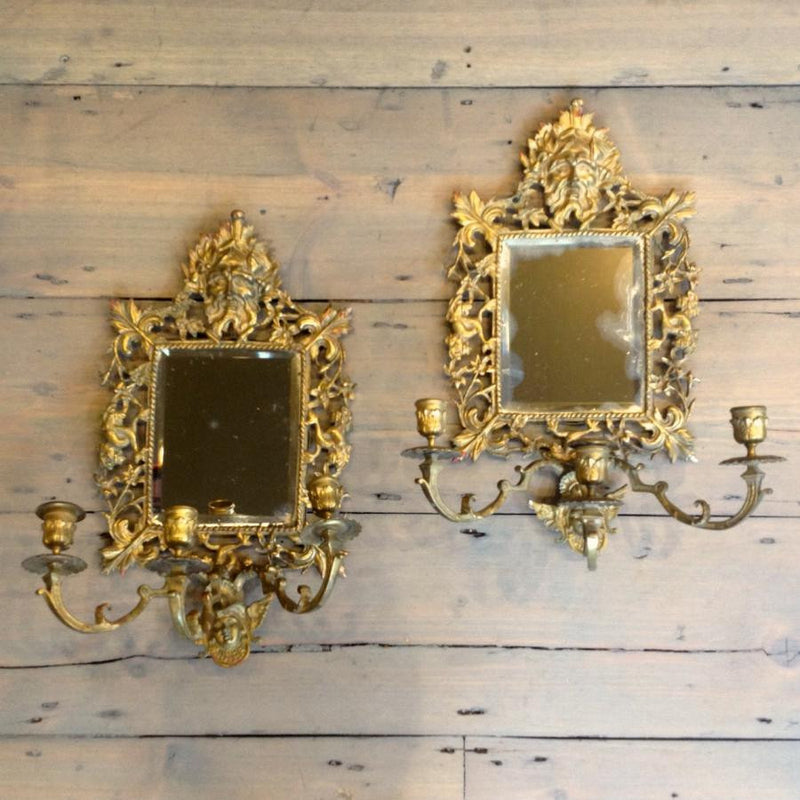 Antique Brass Candle Sconces - The Architectural Forum