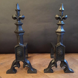 Antique fire dogs