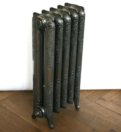 Antique Ornate Polished Cast Iron Radiator - The Architectural Forum