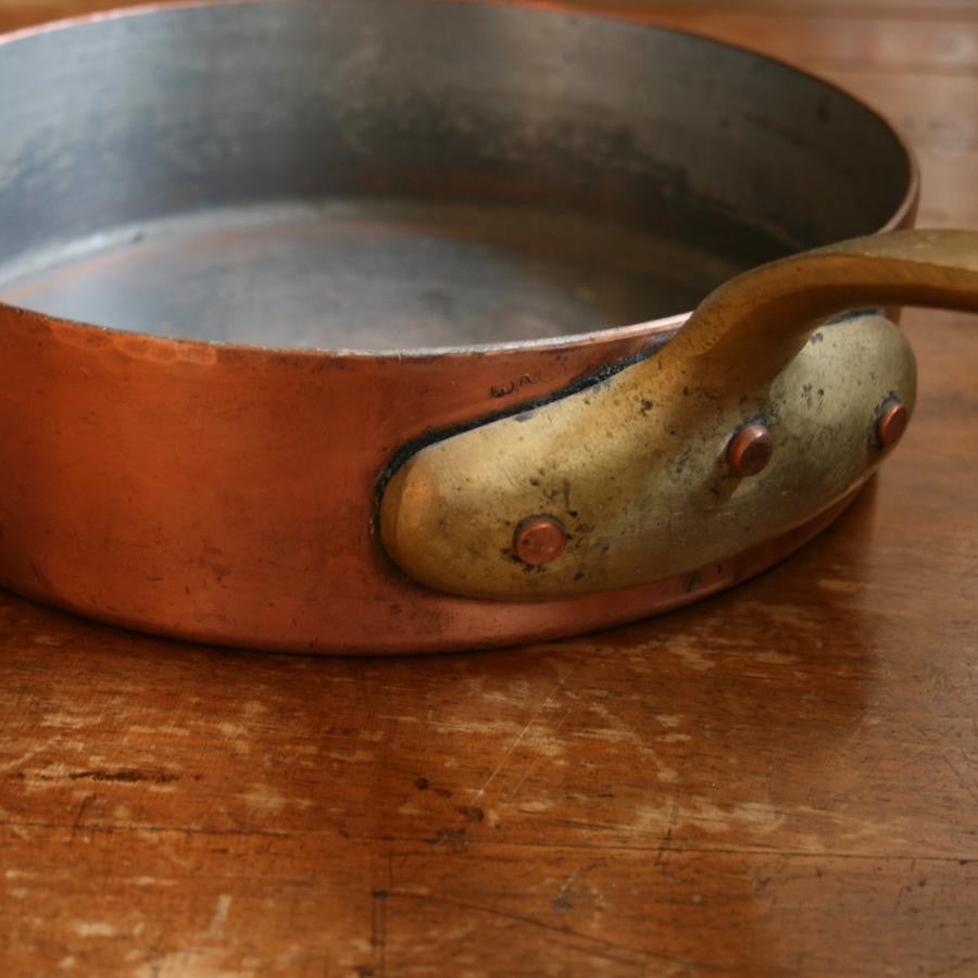 Antique Copper and Brass Saute Pan - The Architectural Forum