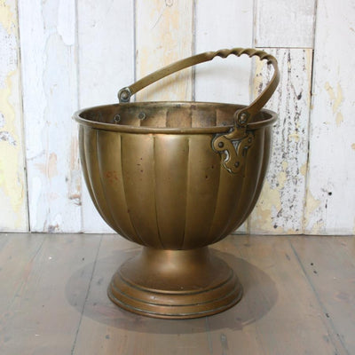 Antique Solid Brass Bucket - The Architectural Forum