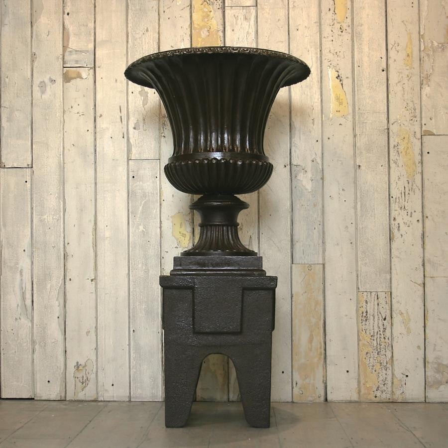 Monumental Antique Cast Iron Campagna Urn