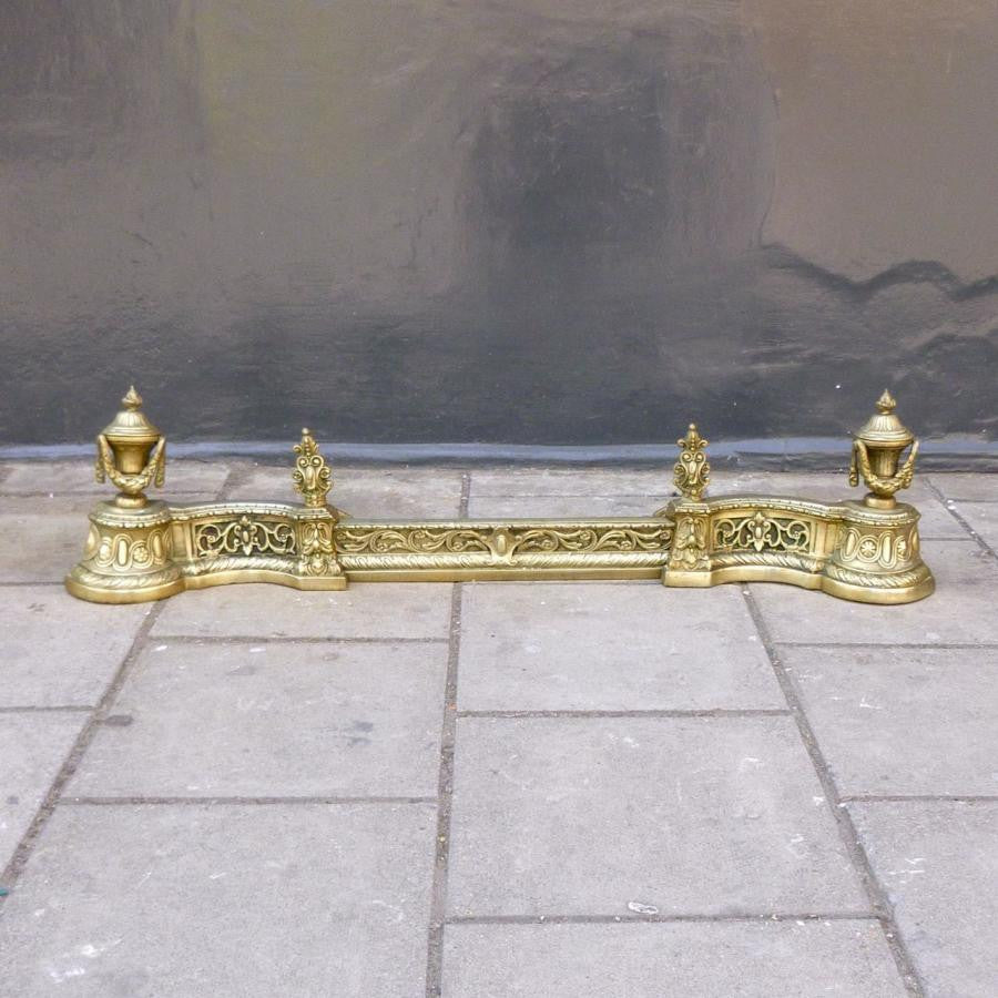 Antique Brass Fireplace Fender | The Architectural Forum