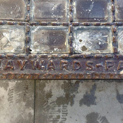 Glass and cast iron grate