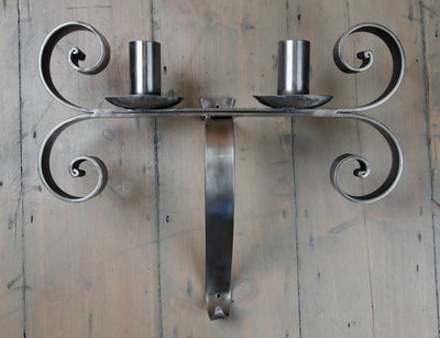 Polished Iron Neo-Gothic Sconces - architectural-forum