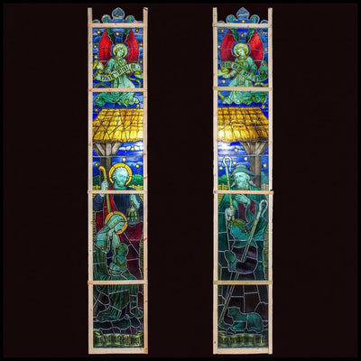 Original Antique Stained Glass Church Windows