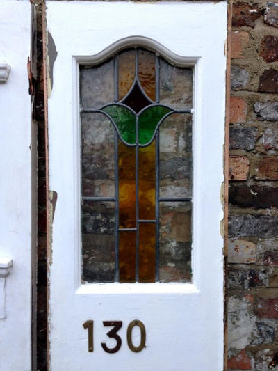 Antique Edwardian Stained Glass Front Door - The Architectural Forum