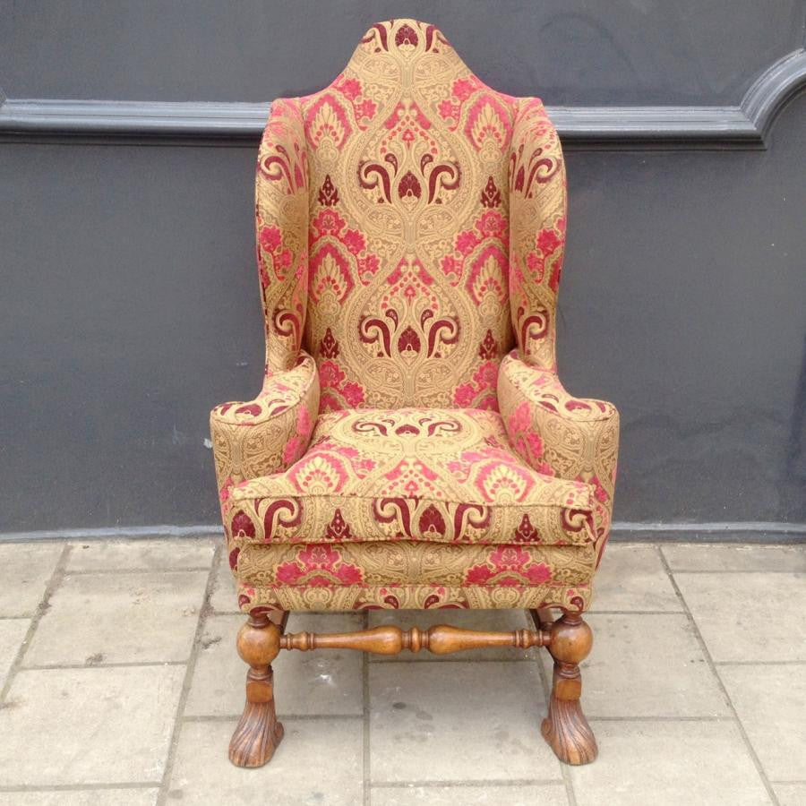 Antique William & Mary Wingback Chair - architectural-forum