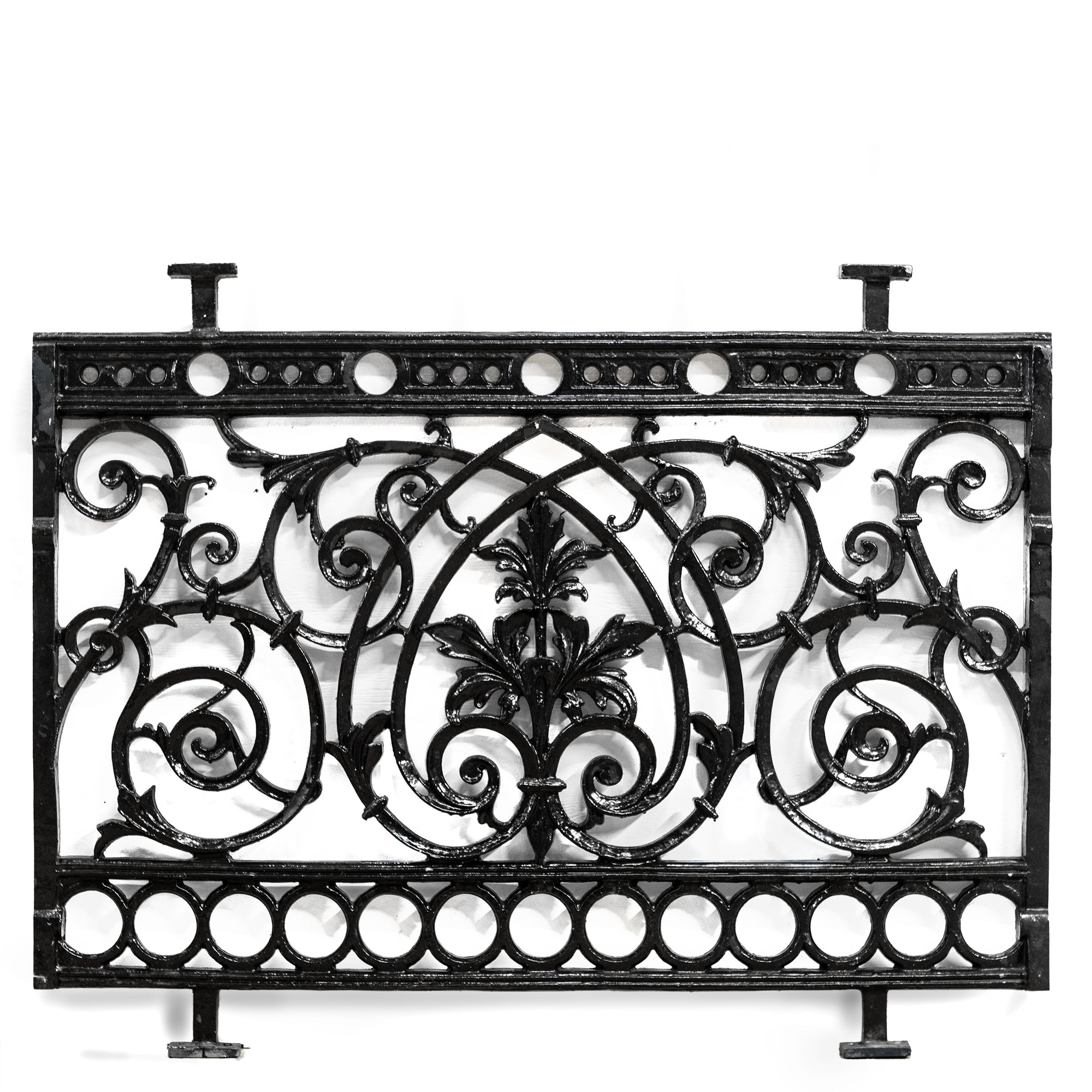 Reclaimed Ornate Victorian Style Cast Metal Railings (11 panels) | The Architectural Forum