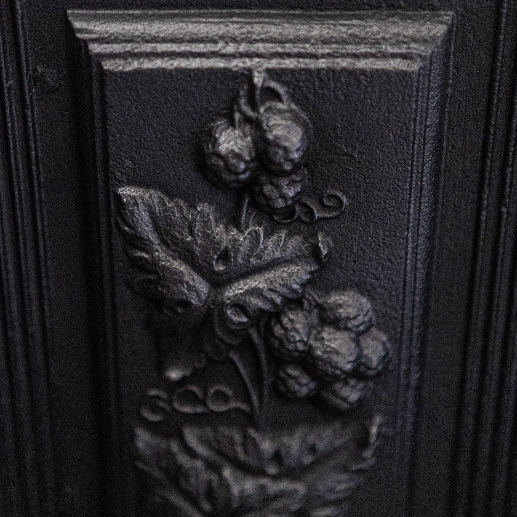 Antique Victorian Cast Iron Hob Grate with Floral Details | The Architectural Forum
