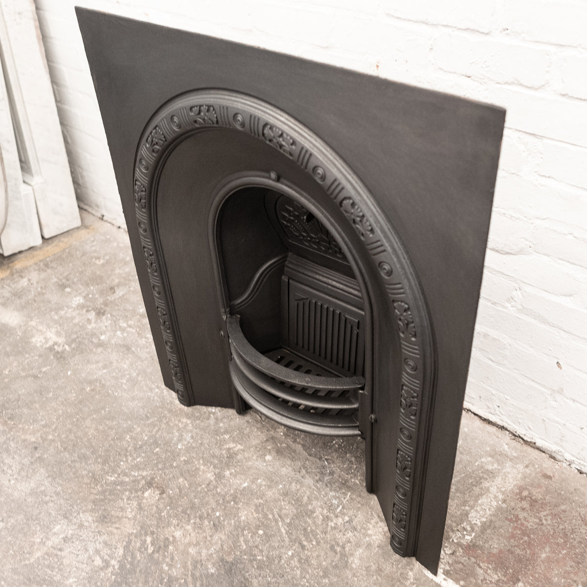 Antique Victorian Cast Iron Arched Fireplace Insert | The Architectural Forum