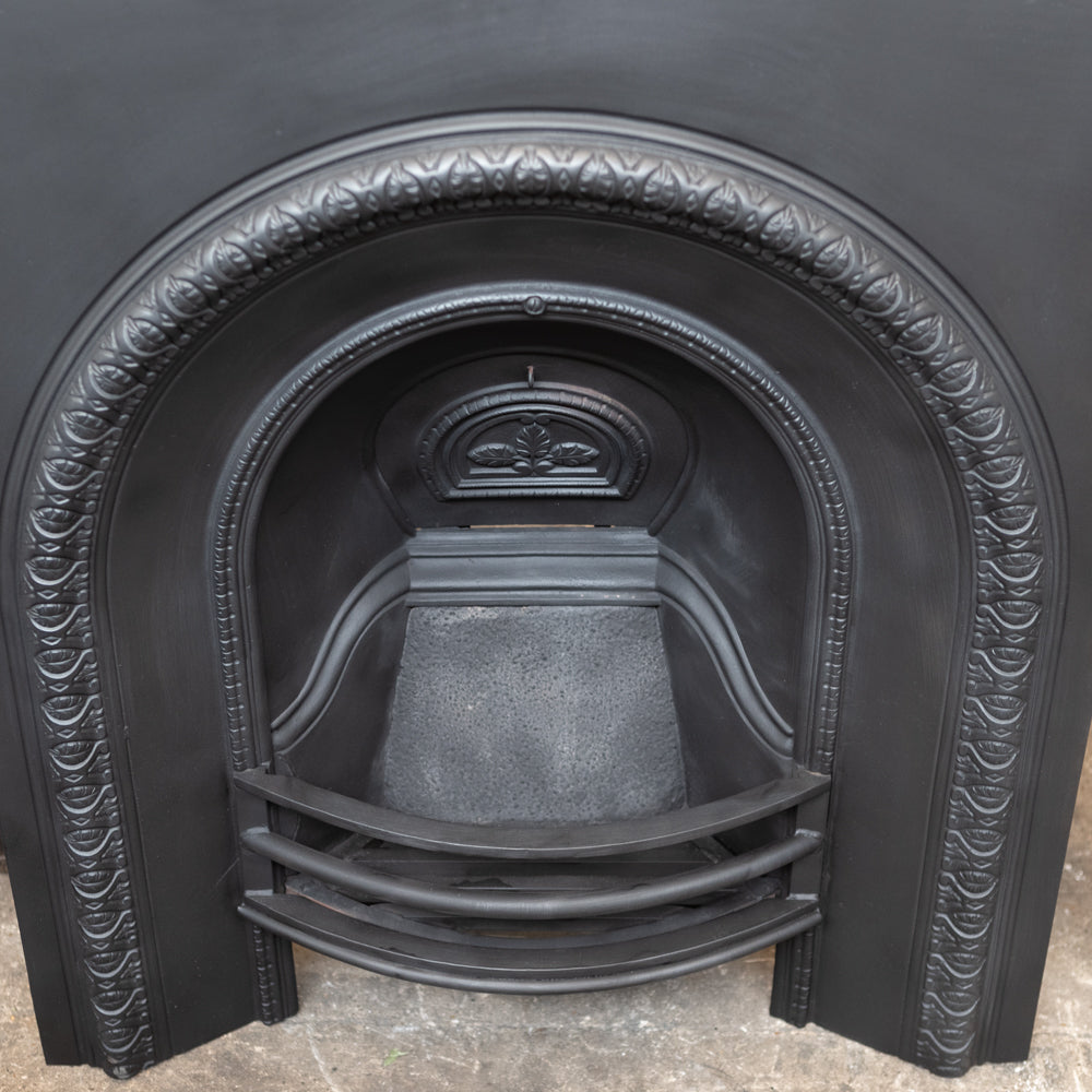 Antique Victorian Arched Cast Iron Fireplace Insert