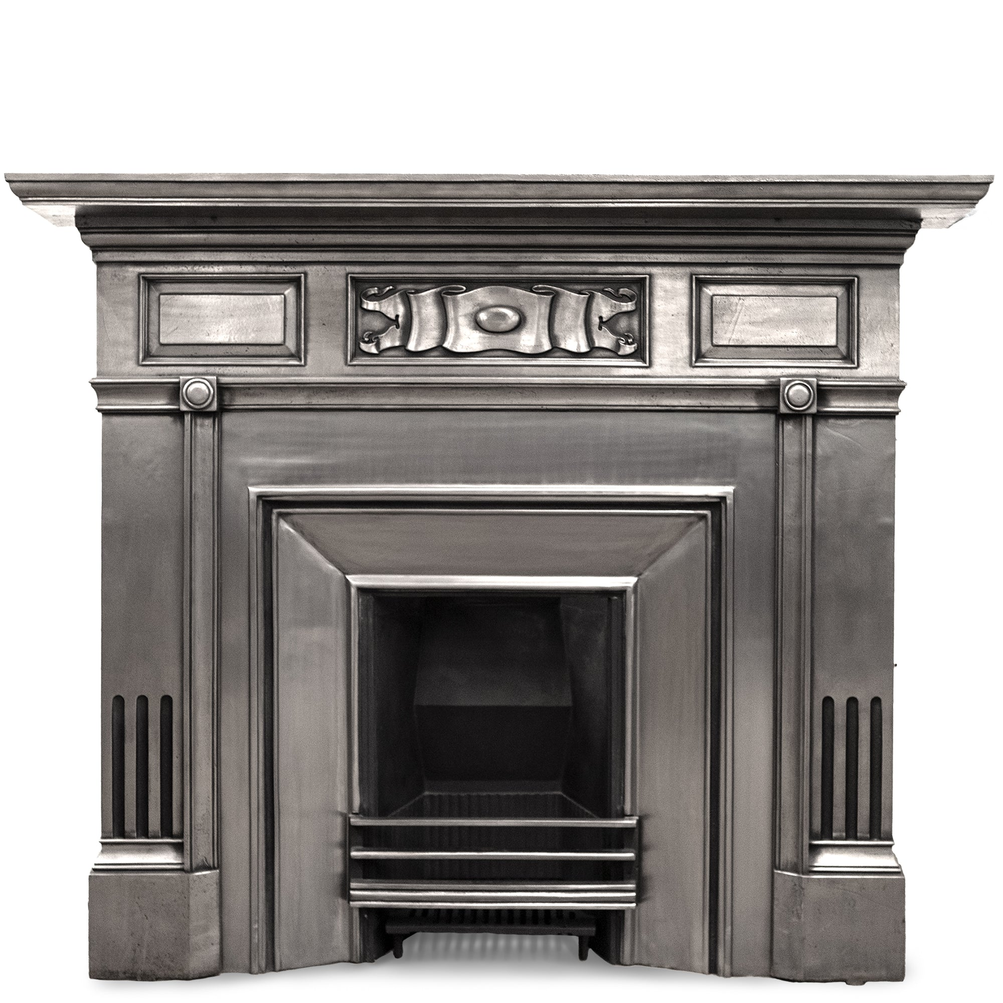 Antique Edwardian Polished Cast Iron Fireplace Surround | The Architectural Forum