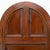 Antique Victorian Solid Mahogany Arched Door 217cm x 89cm