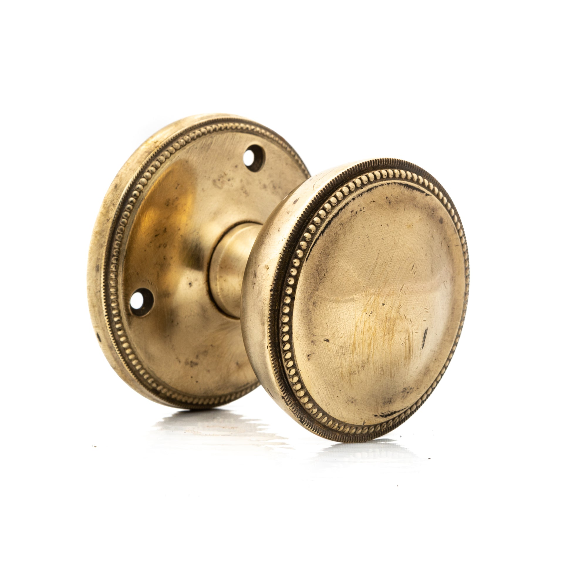 Antique Solid Brass Beaded Pull Handles (4 available) | The Architectural Forum