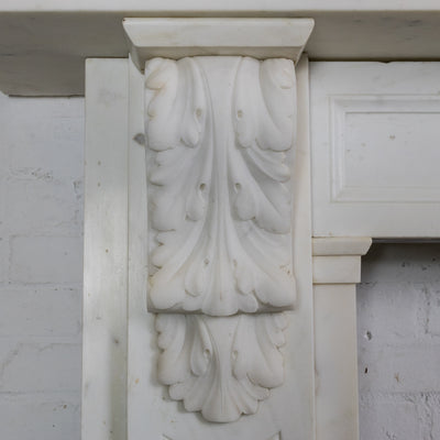 Antique Victorian Statuary Marble Carved Corbel Chimneypiece