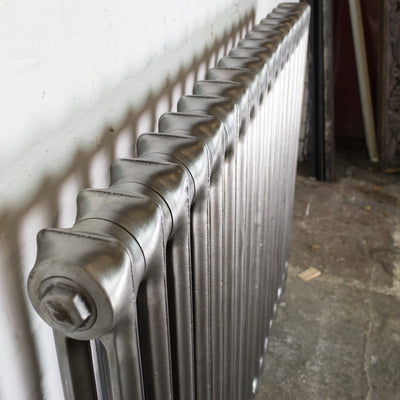 Antique Hand Polished Cast Iron Two Column Radiator 25 Sections
