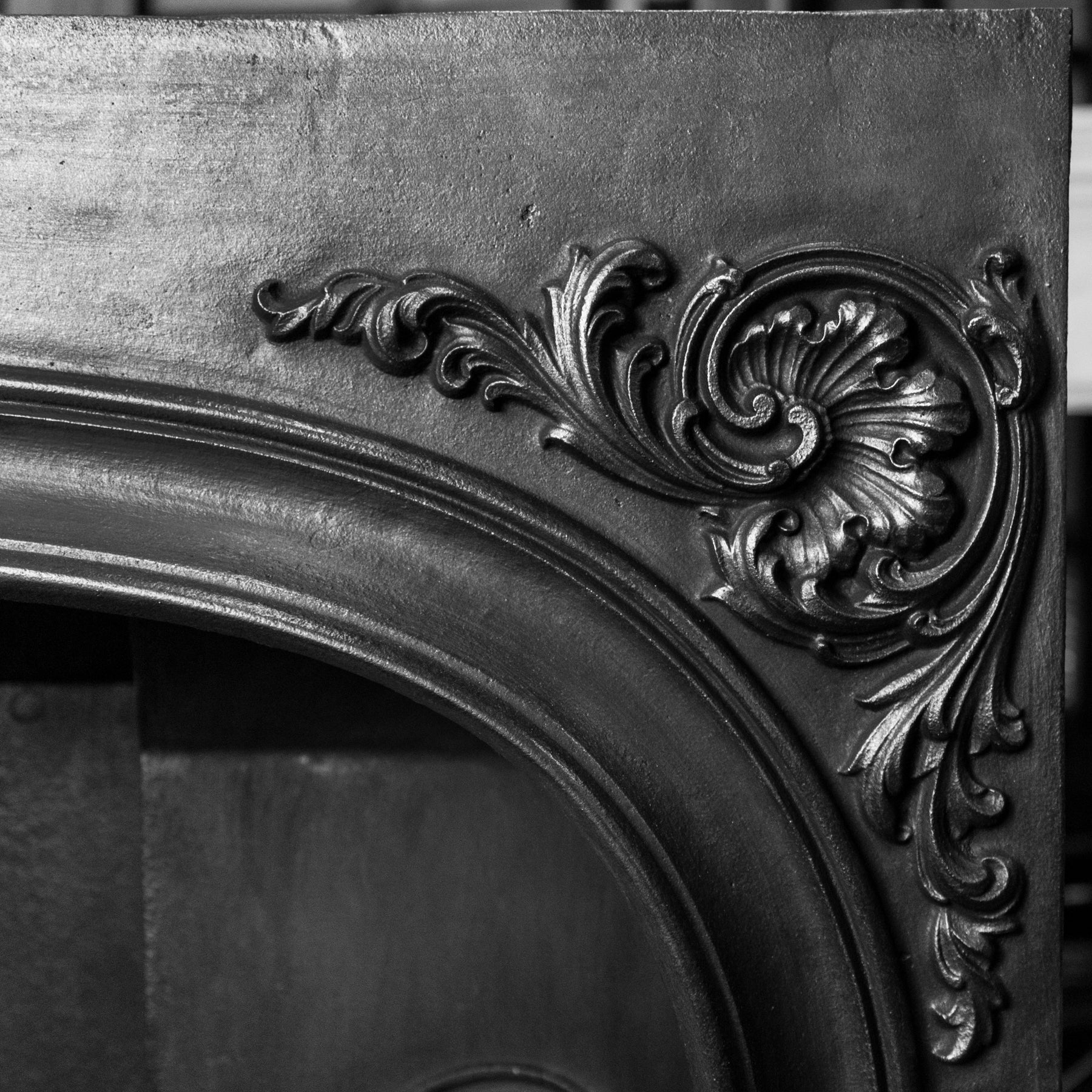 Antique Ornate Late Georgian, Early Victorian Cast Iron Insert | The Architectural Forum