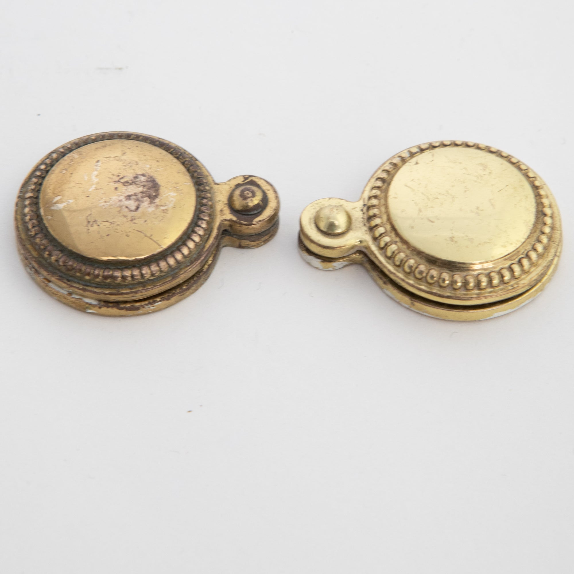 Reclaimed Solid Brass Beaded Escutcheons