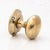 Antique Plain Polished Brass Door Knob | The Architectural Forum
