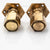 Pair of Antique Hexagonal Brass Door Knobs | The Architectural Forum