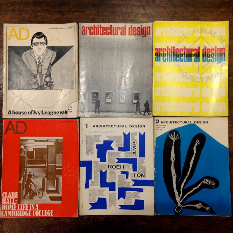 Vintage architectural design magazines