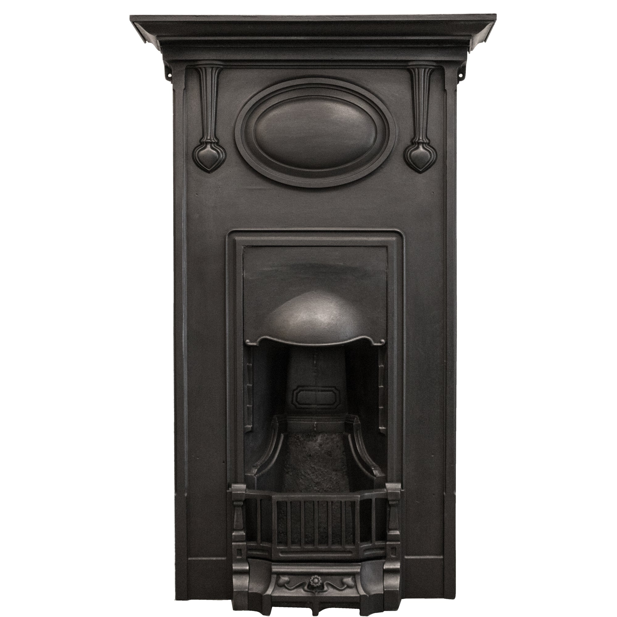 Art Nouveau Cast Iron Combination Fireplace