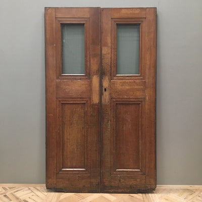 Oak Copper Light Double Doors