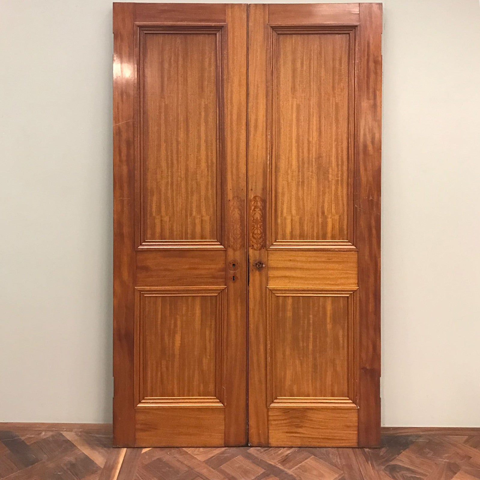 Antique Victorian Mahogany Double Doors - architectural-forum
