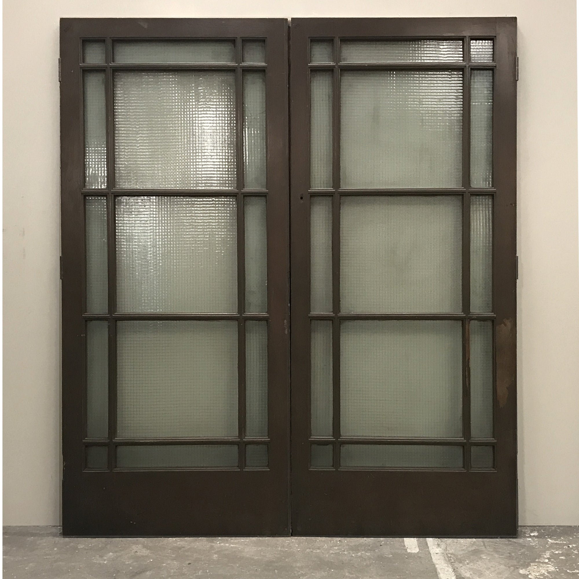 Reclaimed Teak Glazed Double Doors - 202cm x 229cm | The Architectural Forum
