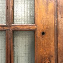 Teak Glazed Double Doors - 202cm x 229cm